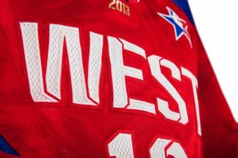 adidas NBA All-Star WEST Jersey Detail 3