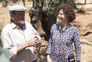 Icíar Bollaín y Manuel, el abuelo de El olivo