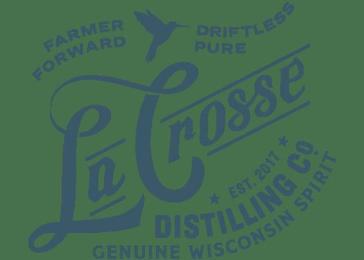 La Crosse Distilling Co. Est. 2017 Farmer Former Driftless Pure Genuine Wisconsin Spirit Logo