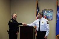 Captain Troy Nedegaard and Chief Ron Tischer