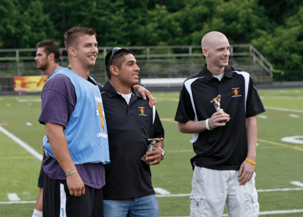 Matt Miller with Honorary Cancer Survivors