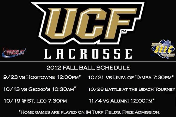 2013 University of Central Florida Lacrosse Reversible Uniforms