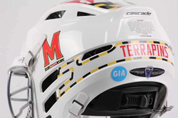 Maryland Lacrosse Cascade CPXR and Pro7 Helmets, Custom Chinstraps, and Facemasks