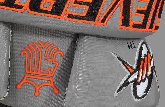 Custom Brine King IV Lacrosse Gloves for Jeremy Sieverts