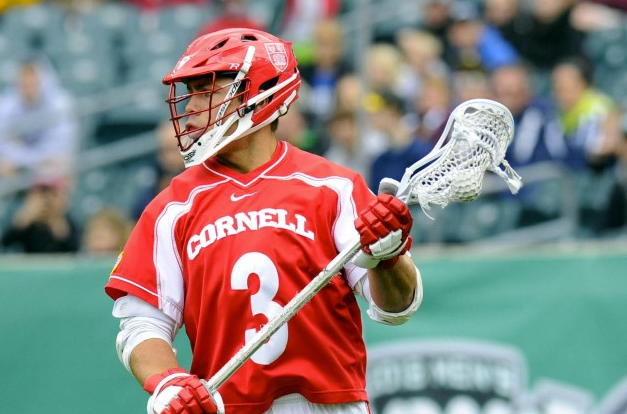 May 25, 2013; Philadelphia, PA, USA; Cornell Big Red attackman Rob Pannell (3) during the game against the Duke Blue Devils during the first quarter of the 2013 NCAA Division I men's lacrosse semifinals at Lincoln Financial Field. Mandatory Credit: Rich Barnes-USA TODAY Sports