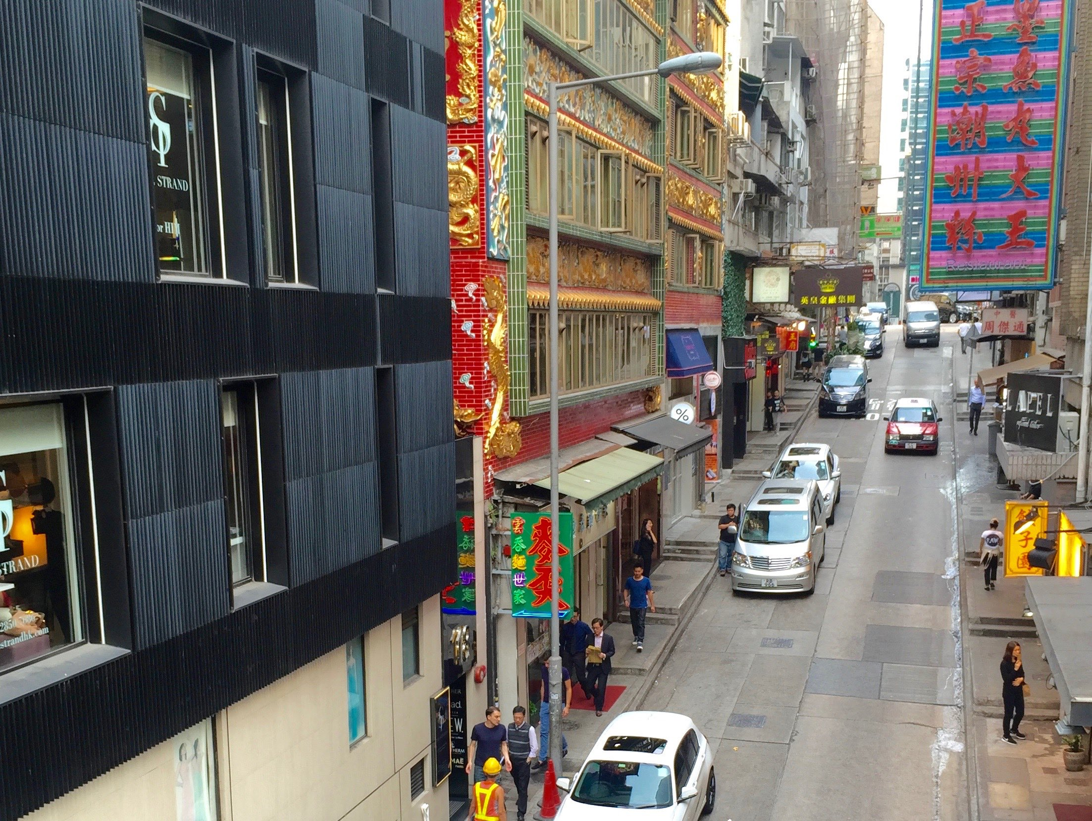 Restaurants, cafes and noodle shops packed on Wellington Street Central