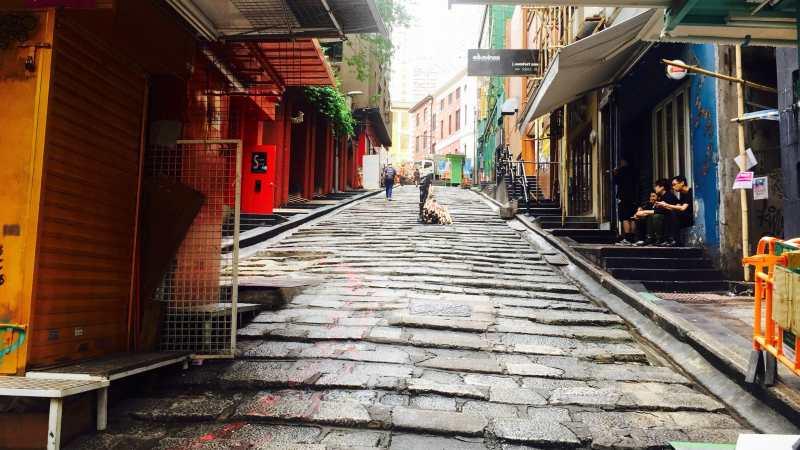 Hong Kong Central Pottinger Street called Stone Slabs Street by local Hong Kong people