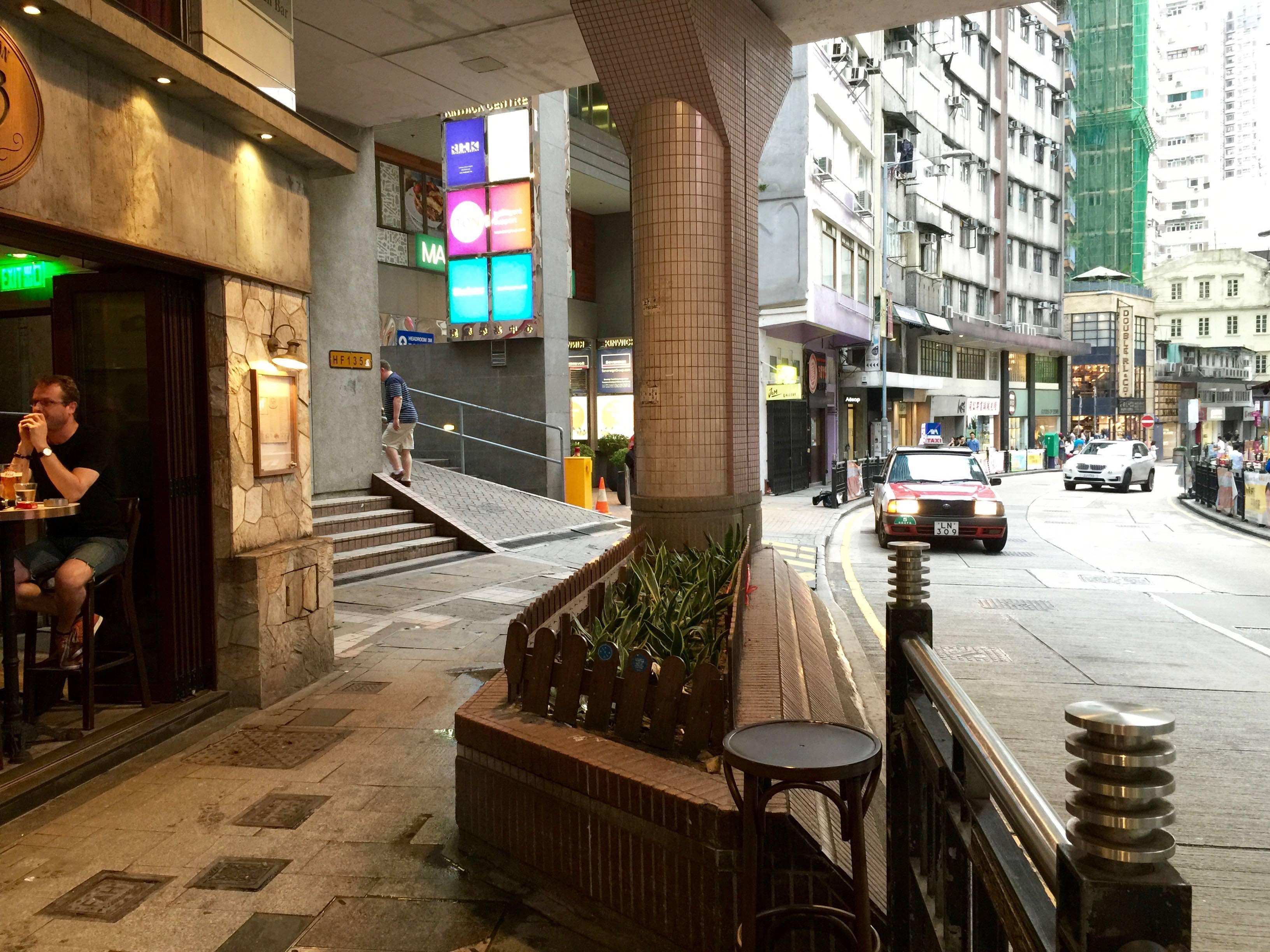 Central Hollywood Road trendy spot for restaurants bars Hong Kong