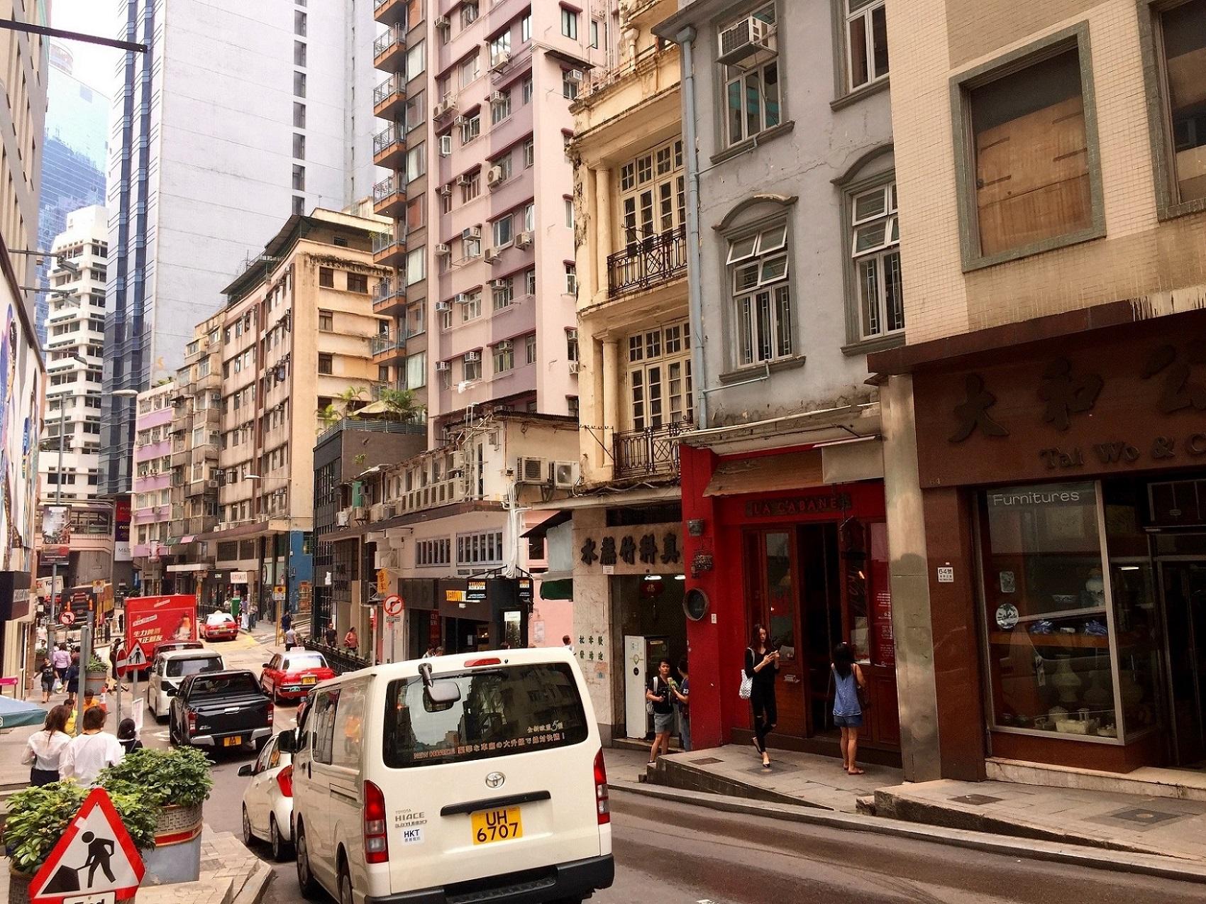 Hollywood Road Hong Kong for restaurants cafes bars galleries antique-shops