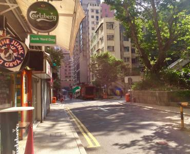 Hong Kong Sai Ying Pun high-ceiling restaurant shop with outdoor for lease