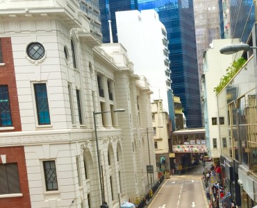 Hong Kong Central Wyndham Street connecting Soho Central high traffic bar location for lease