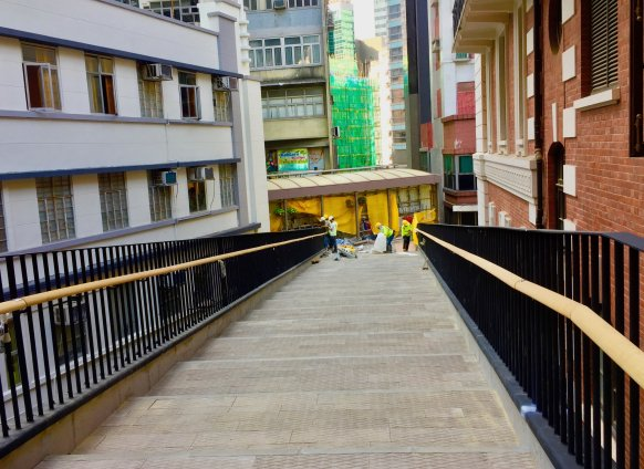 Hong Kong Tai Kwun - New footbridge connecting Soho Escalator - link up Soho Central