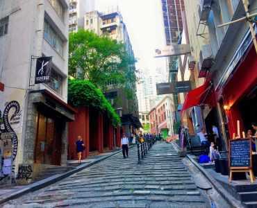 HK Central Pottinger Street High Ceiling restaurant space for lease