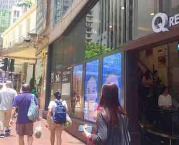 Hong Kong Wan Chai Upstairs F&B Shop for Lease with office crowds