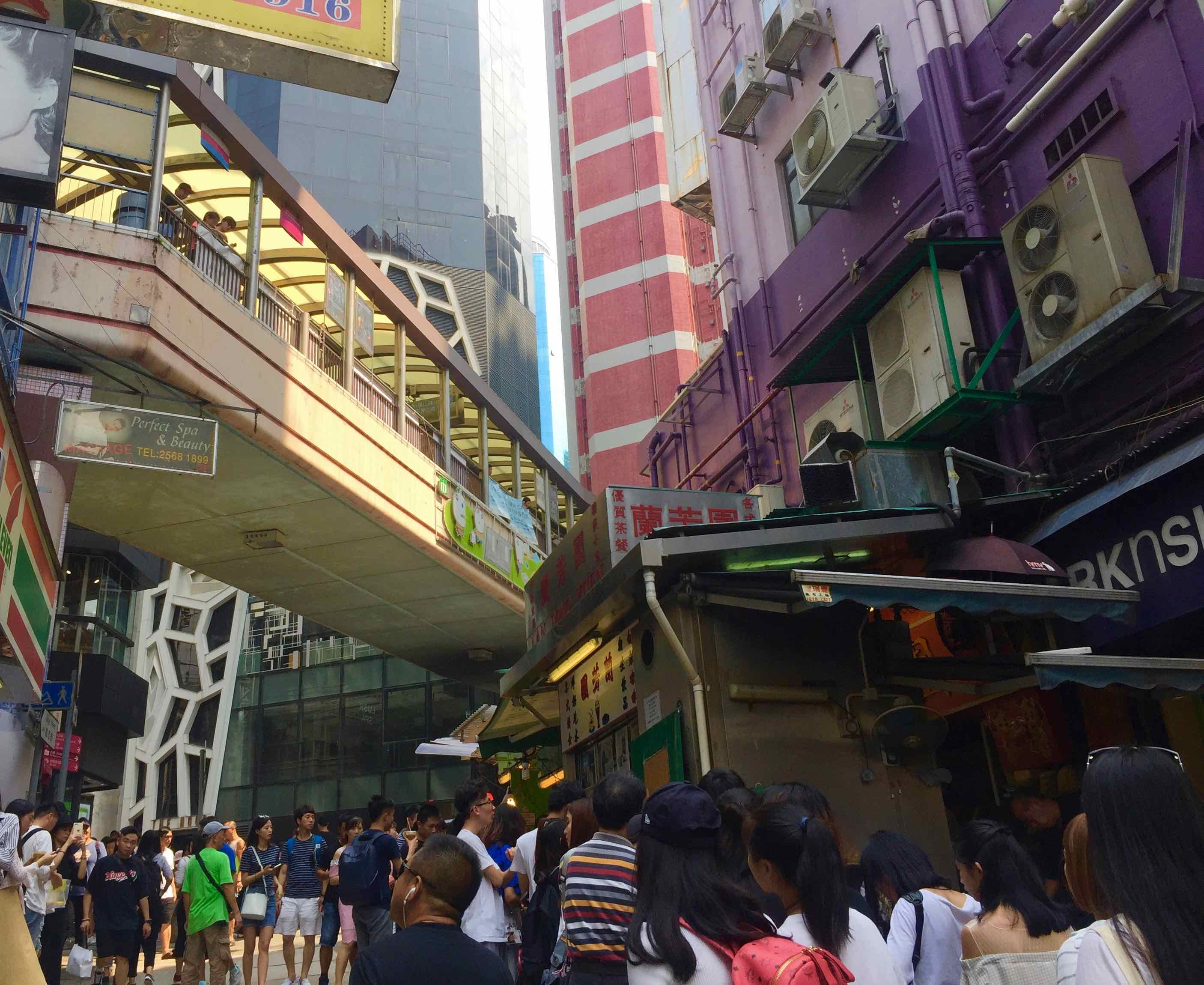 HK Central Gage Street food & beverage shop for rent with tourist crowds