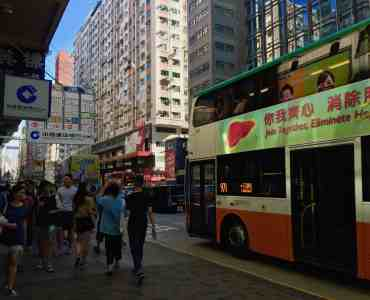 Mongkok upstairs restaurant bar space for rent on busy Nathan Road in Kowloon HK