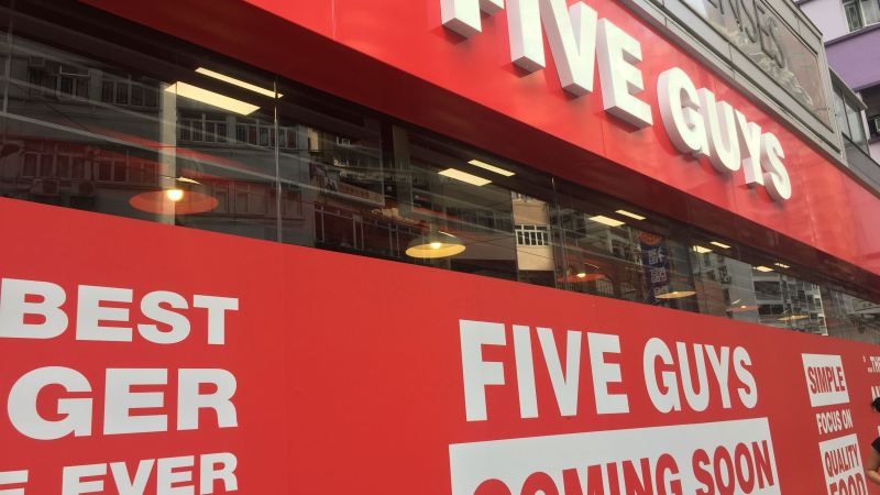 Burger Chain Five Guys opens first Asian flagship restaurant in HK