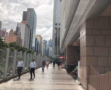 HK Wanchai Alfresco Restaurant for Lease with high ceiling