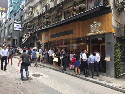 Central HK has large foodie crowds especially for lunch hours