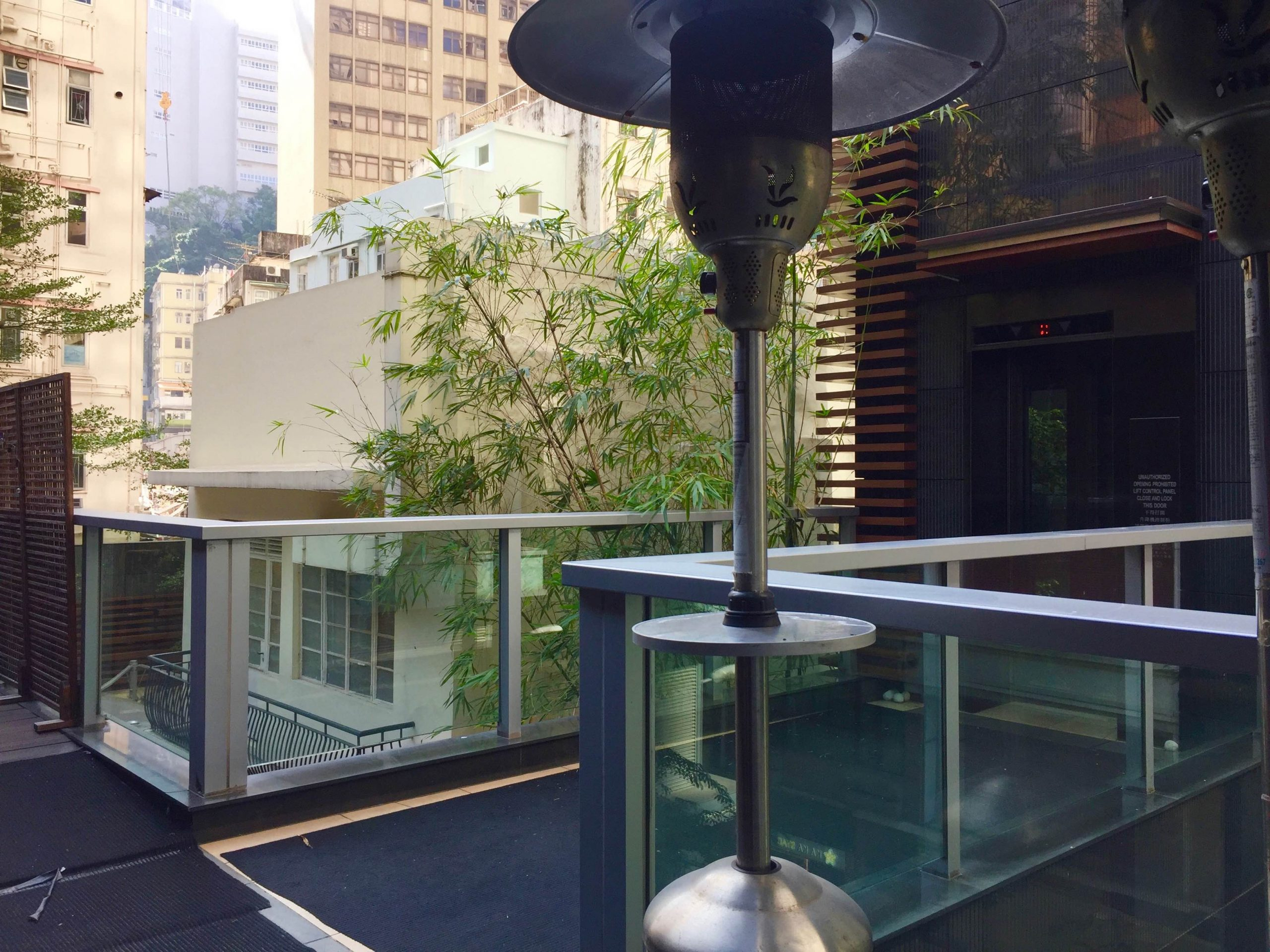 Large Flat Roof Bar Restaurant for Rent with exclusive lift Wanchai HK