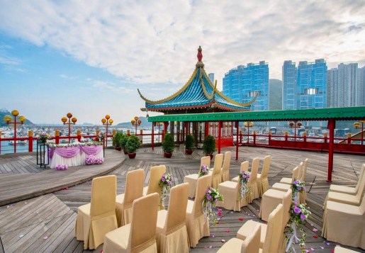 Jumbo Floating Restaurant - part of the scenery of Aberdeen waterfront in HK