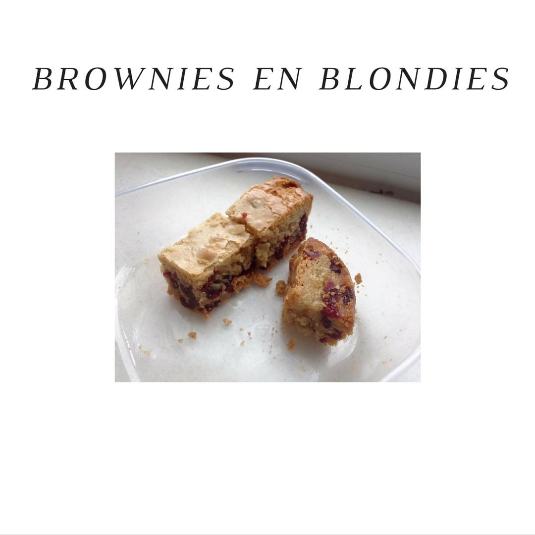 brownies en blondies lactosevrij
