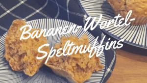Bananen-Wortel-Speltmuffins