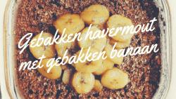 gebakken havermout met gebakken banaan