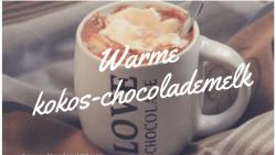 Warme kokos-chocolademelk