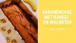lactosevrij en suikervrij bananencake