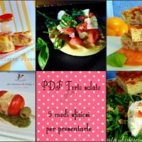 Cinque modi per servire una torta salata #GustoQui  Pdf scaricabile