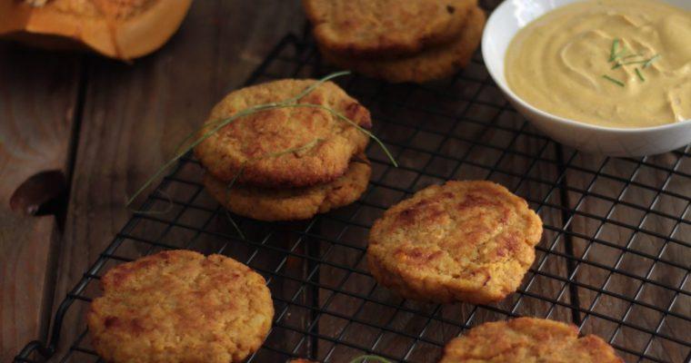 Crocchette di zucca con salsa alla curcuma