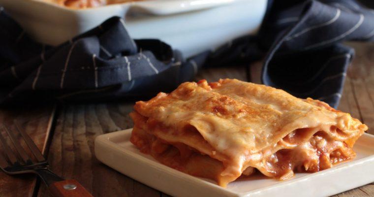 Lasagne al ragù di ciliegino e tacchino