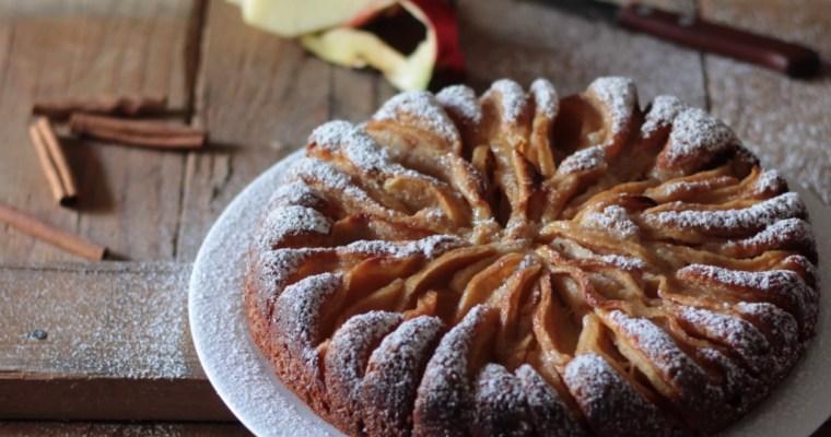 Torta ricotta, mele e cannella