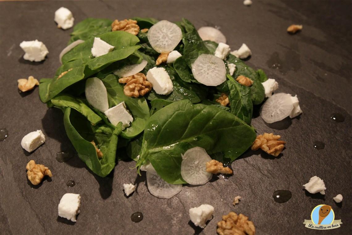 lacuillereenbois.fr - salade fraicheur chèvre épinards