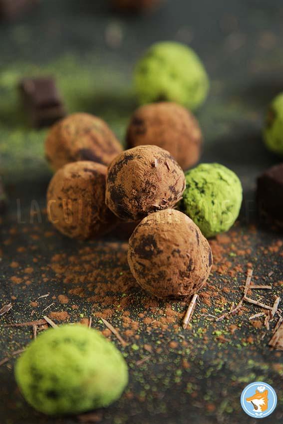 illustration des truffes  en chocolat