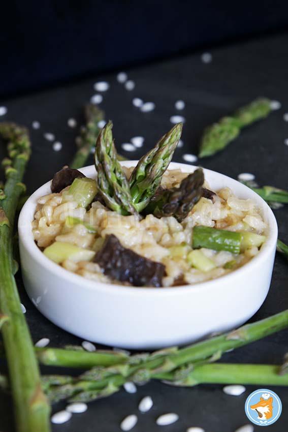 Délicieuse recette de risotto aux asperges vertes et shiitake
