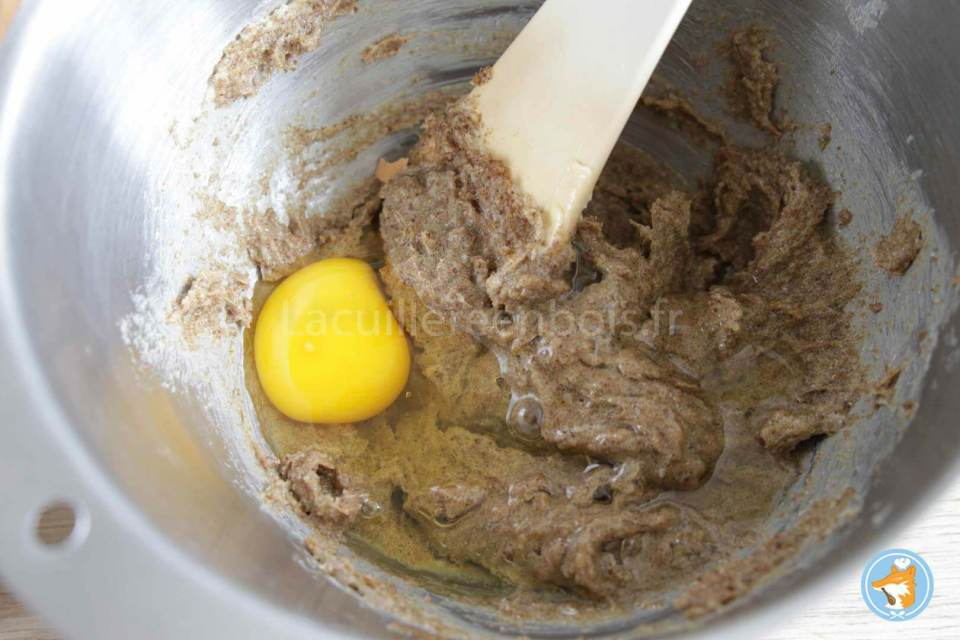 recette détaillée de cookies délicieux avec un cœur au gianduja