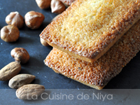 Financiers amandes et noisettes