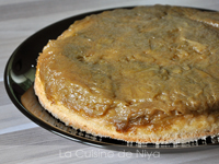 Gâteau au yaourt de soja et compotée de rhubarbe [vegan]