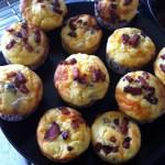 Cupcakes américains Bacon Cheddar