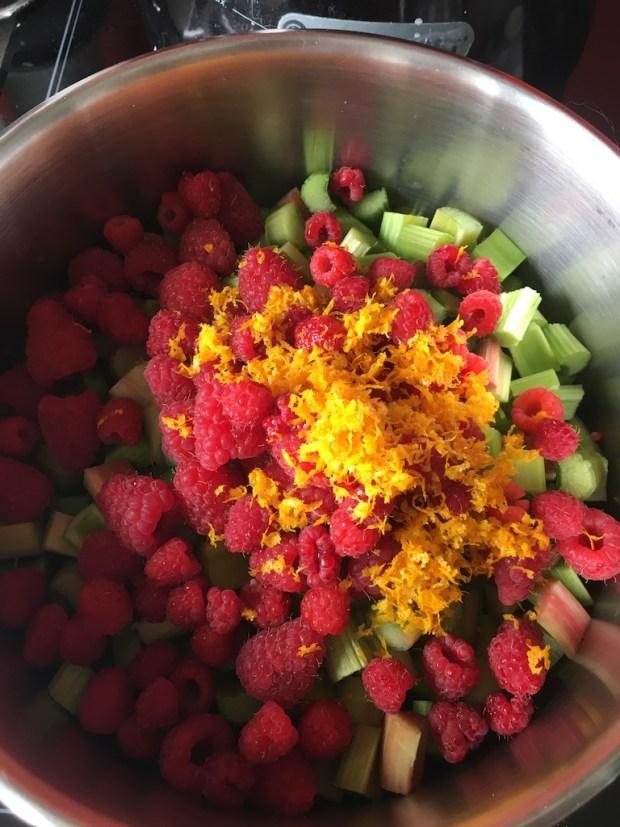 Tarte Croustillante Framboise Rhubarbe