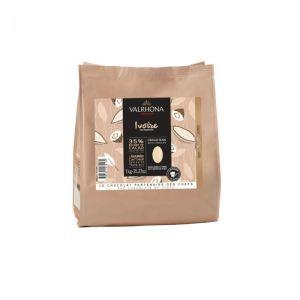 chocolat ivoire Valrhona 1kg