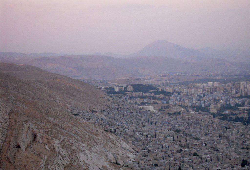 Damas depuis le Mont Qasioun - Syrie 2010