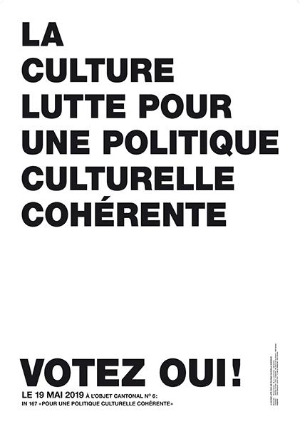 Votons OUI à une politique culturelle cohérente à Genève