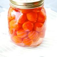 Settembre tempo di conserve: Pomodorini ciliegini al naturale