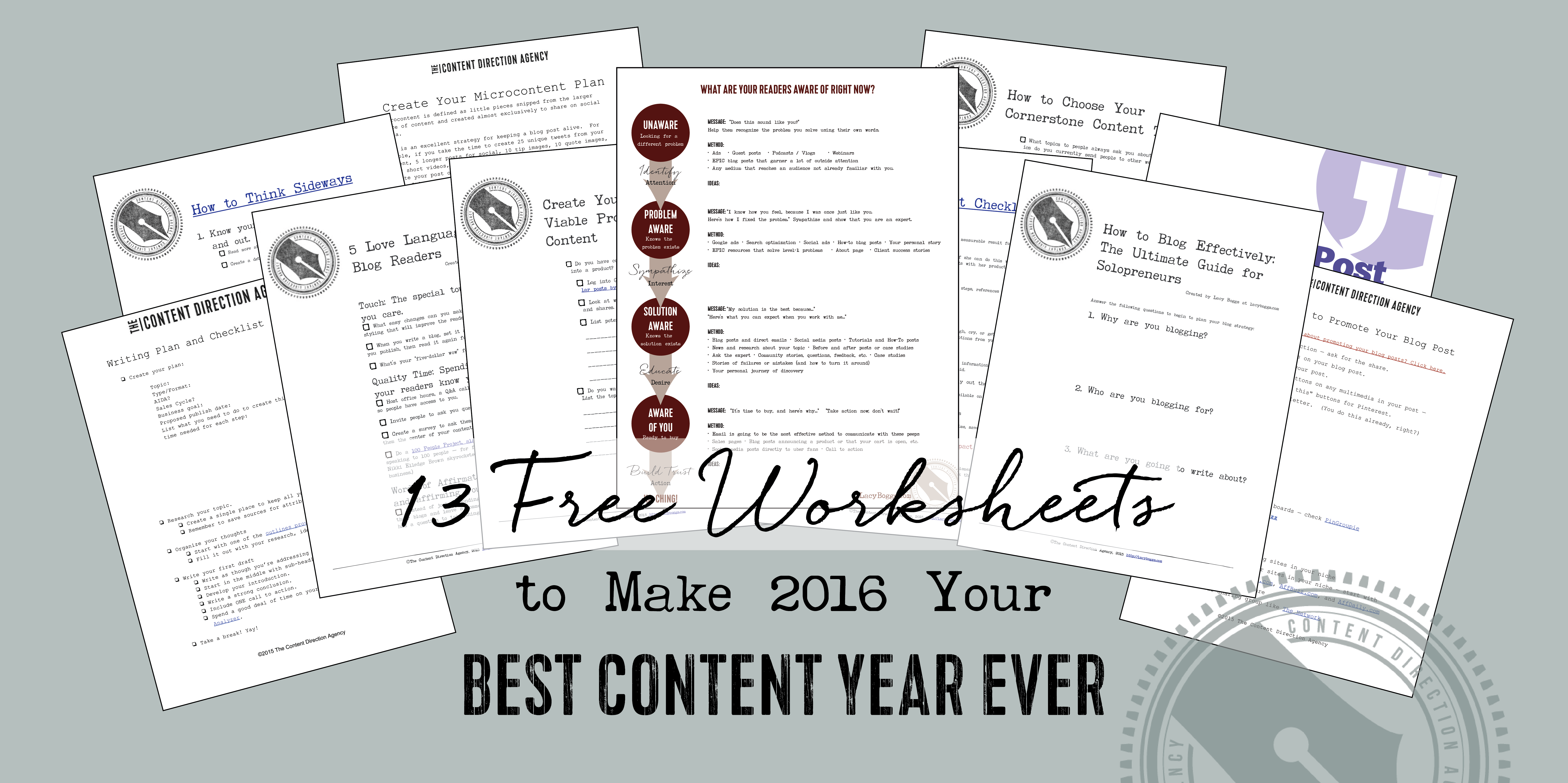 13 Free Content Marketing Worksheets For Your Biz In