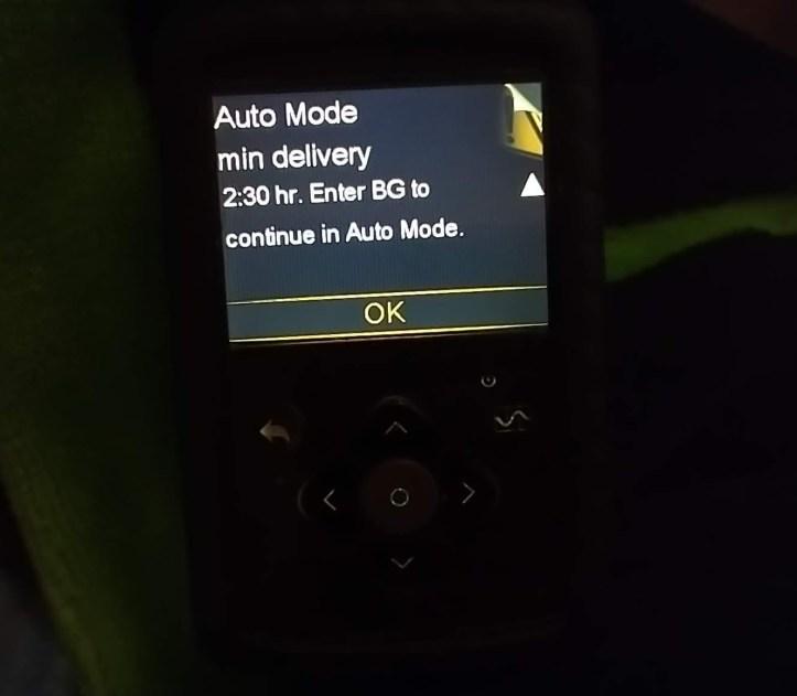Auto mode min delivery screen