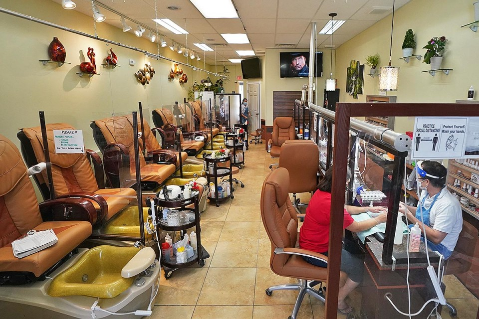 galaxy nail spa re opens for business