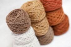 100% Wool yarns, natural dyes